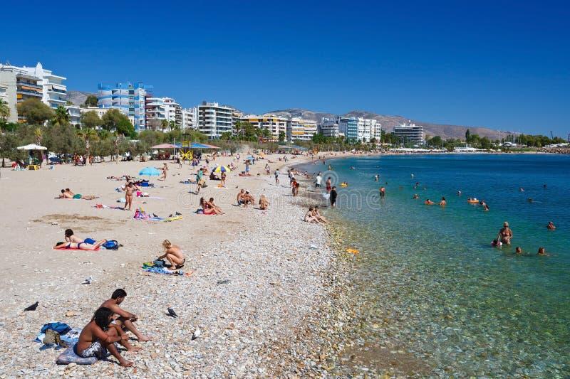 Strand in Athene stock fotografie