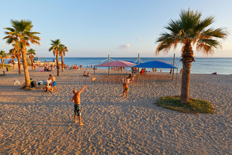 Strand in Athene royalty-vrije stock foto's
