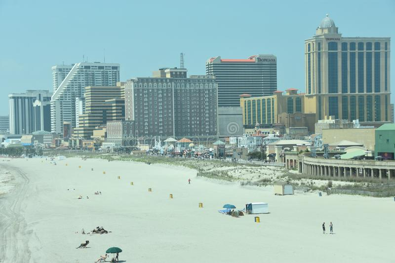 Strand in Atlantic City, New Jersey stock afbeelding