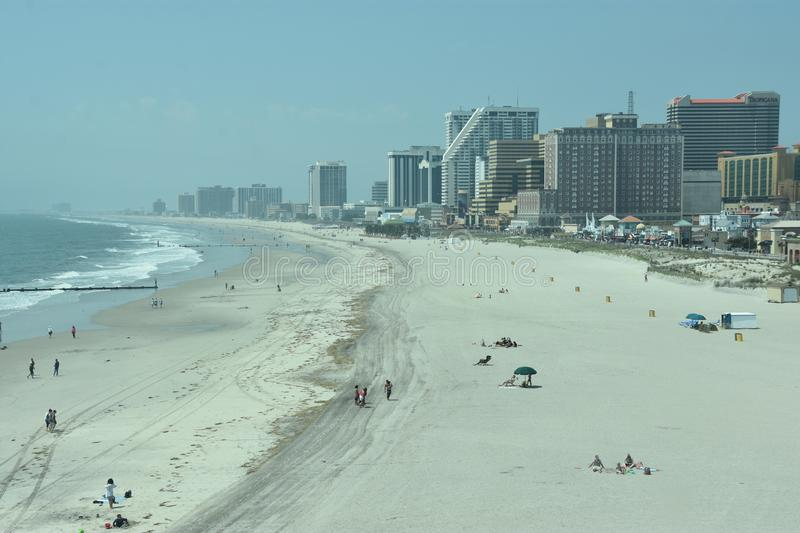 Strand in Atlantic City, New Jersey stock fotografie