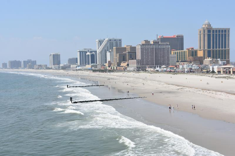 Strand in Atlantic City, New Jersey royalty-vrije stock fotografie