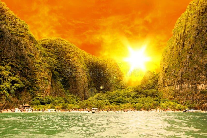 Strand auf Insel Phi-Phi lizenzfreie stockfotografie