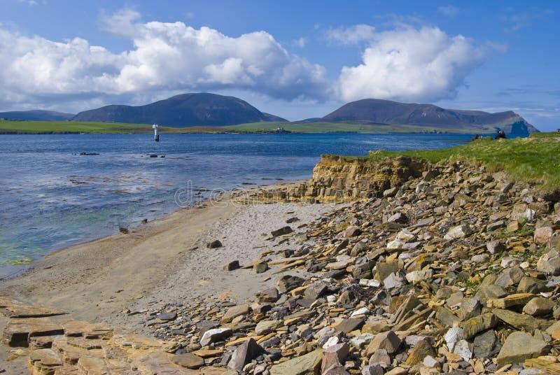 Strand auf Orkney-Festland lizenzfreie stockfotos