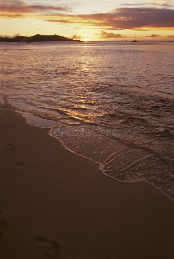 Strand auf Paradiesinsel lizenzfreies stockbild