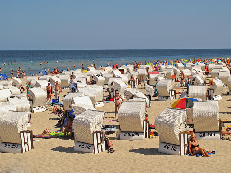 Strand auf Ruegen-Insel lizenzfreies stockbild