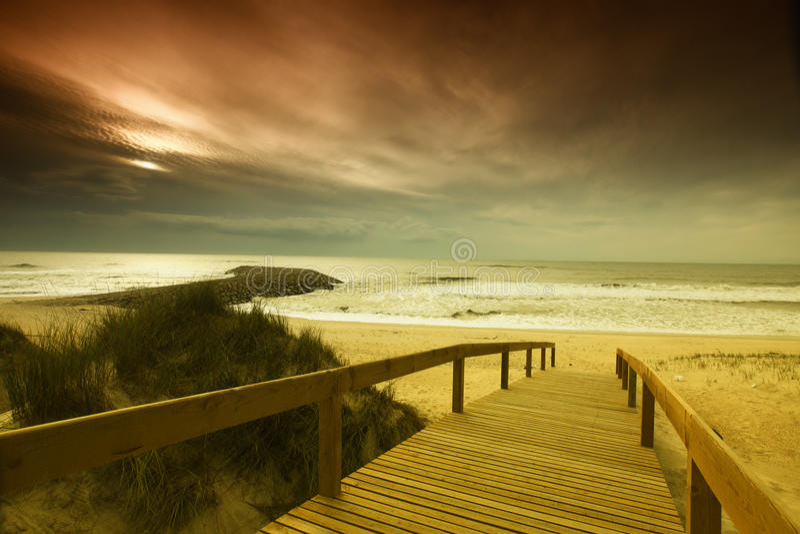 Strand av Areao fotografering för bildbyråer