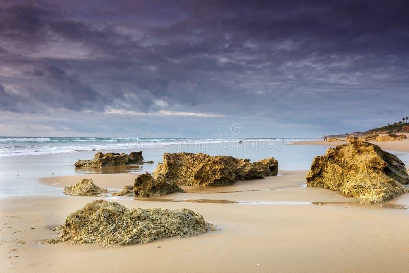 Strand av Barrosaen i Cadiz arkivfoto