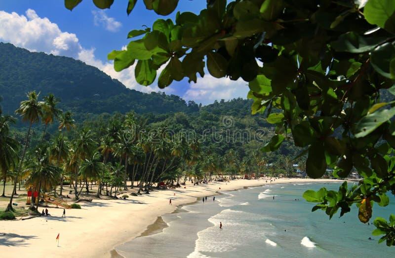 Strand av den Maracas fjärden, Trinidad arkivfoton