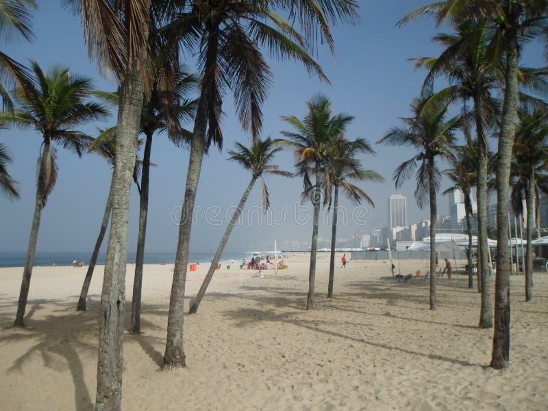 Strand av Leme Rio de Janeiro Brazil arkivfoto