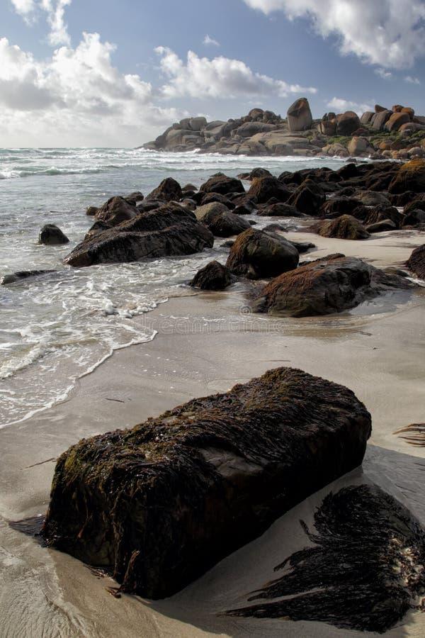 Strand av Llandudno, Cape Town arkivfoto