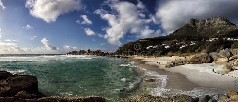 Strand av Llandudno, Cape Town arkivbild