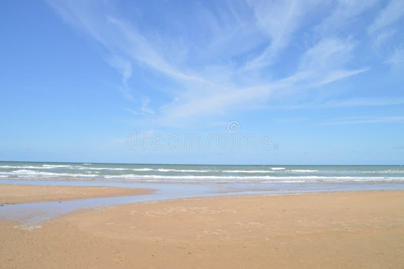 Strand av Normandie royaltyfri bild