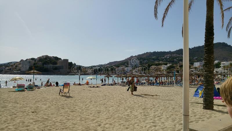 Strand av Palma arkivbild