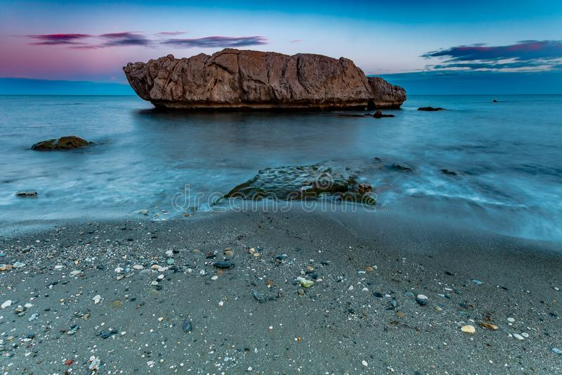 Strand av Piedra Paloma, Casares, Malaga, Spanien arkivfoto