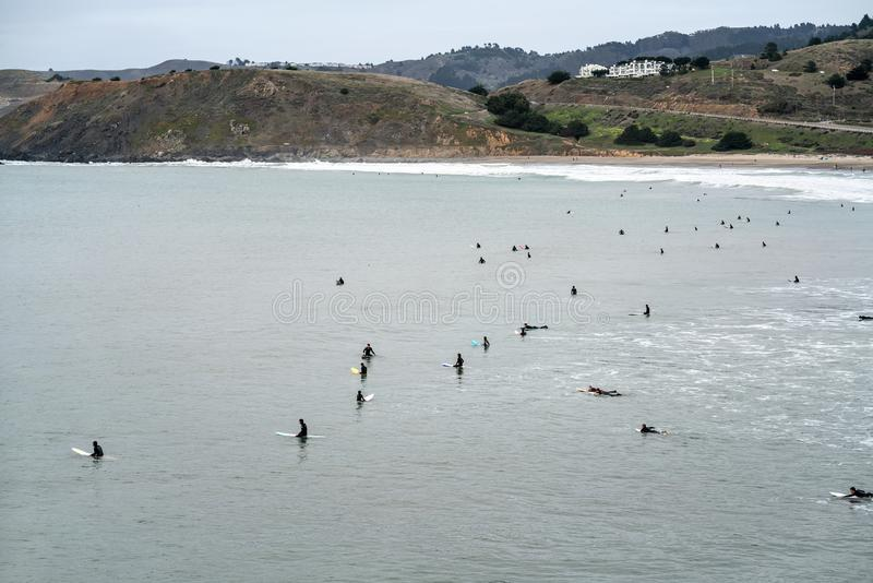 Strand av San Francisco arkivfoto