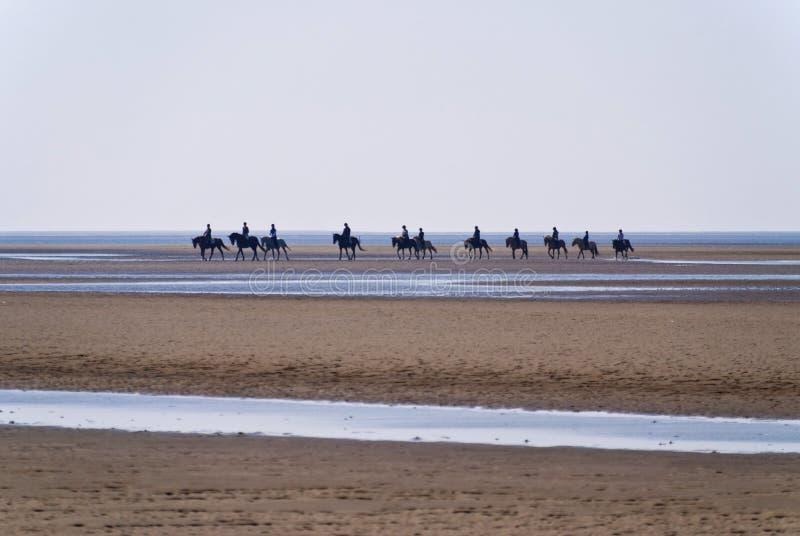 Strand av St. Peter-Ording royaltyfria foton