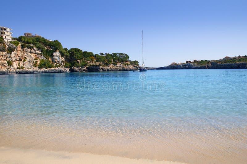 Strand Balearic Island Porto-Cristo Mallorca stockfoto