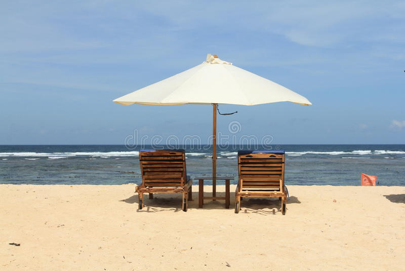 Strand in Bali stock afbeeldingen
