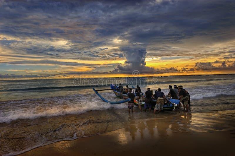 Strand Bali - Jimbaran stock fotografie