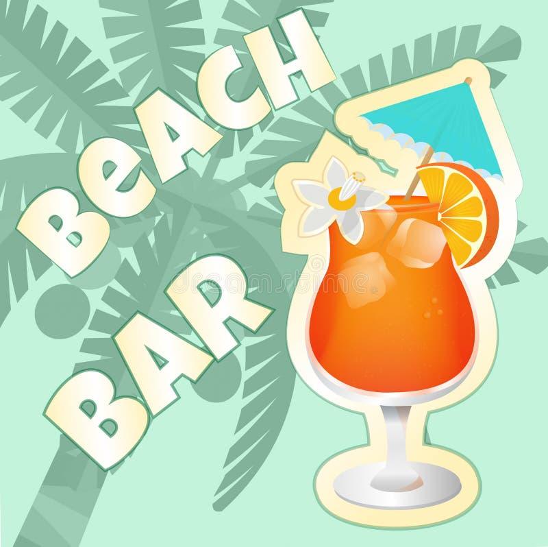 Strand-Bar-Cocktailparty stock abbildung