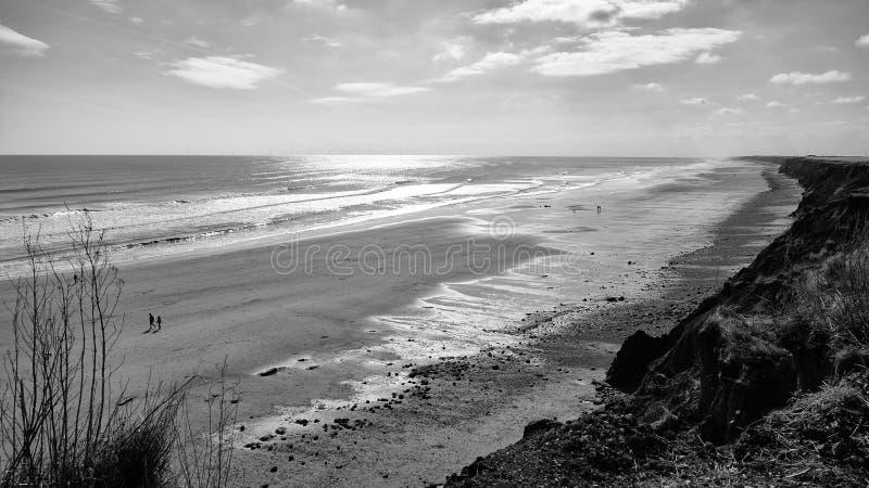 Strand bei Aldborough stockfotografie