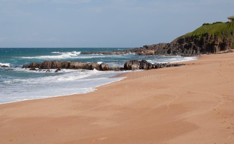 Strand bei Ballito, KZN, Südafrika lizenzfreie stockbilder