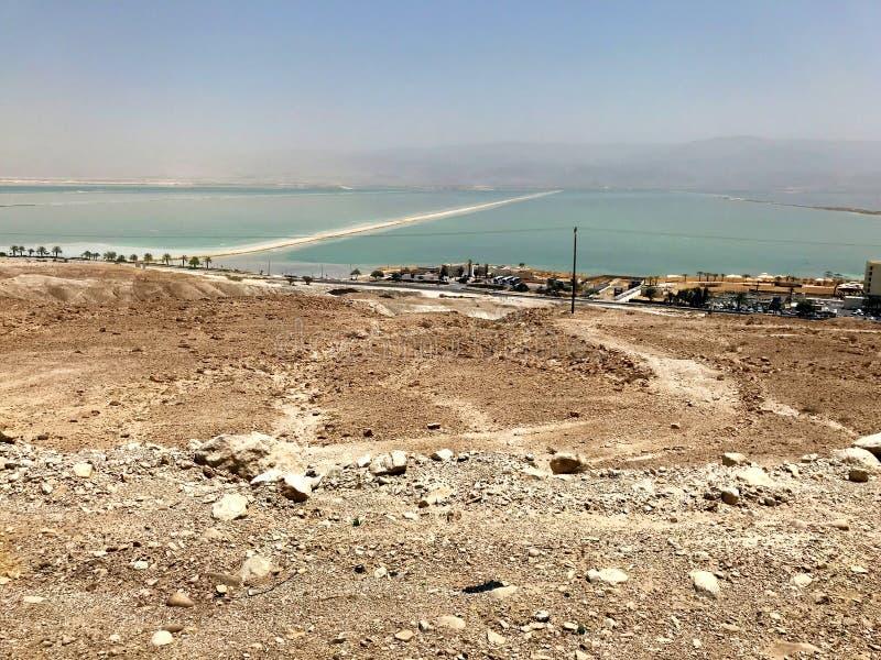 Strand bei Ein Gedi, Totes Meer, Israel stockbilder