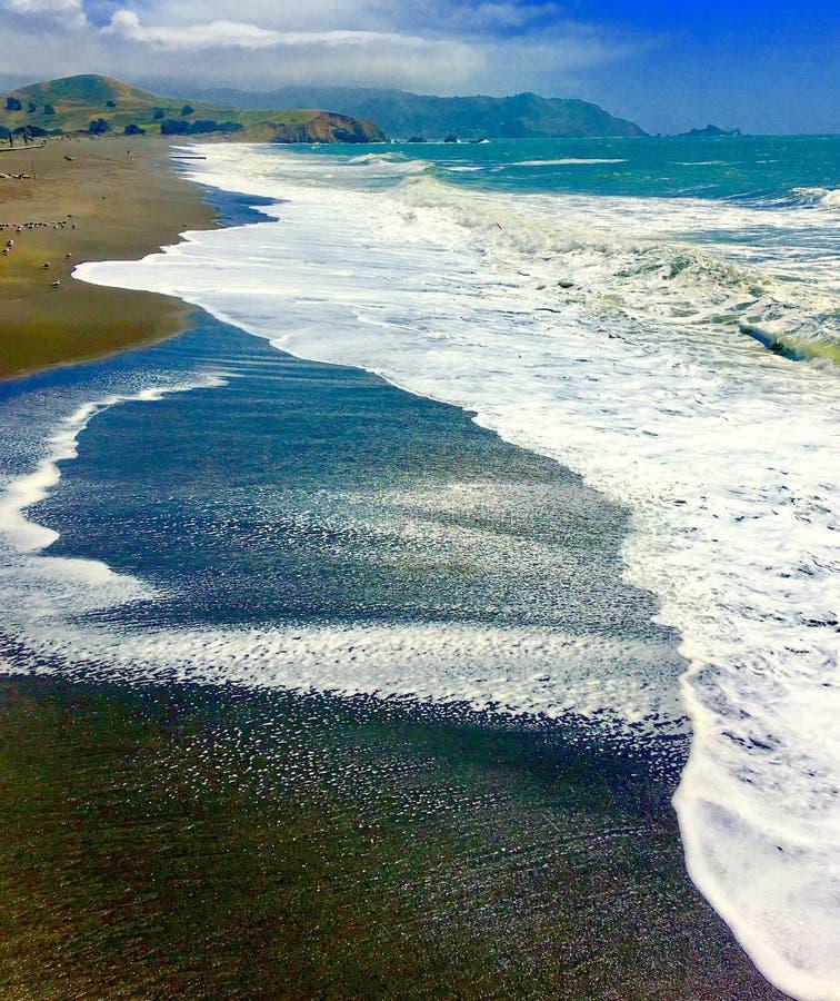 Strand bei Pacifica, CA stockbild