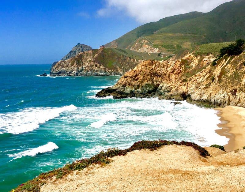 Strand bei Pescadera, CA stockbild