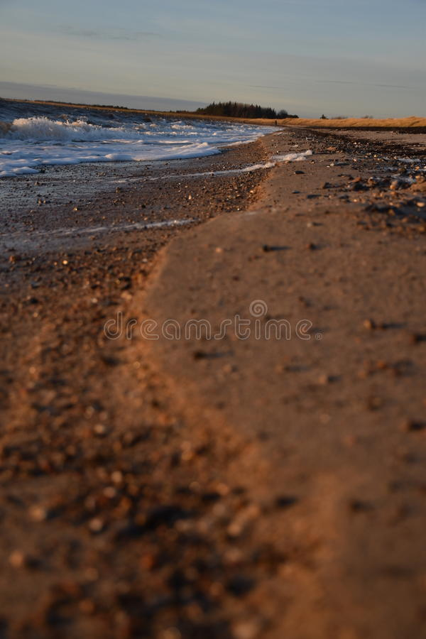 Strand bij avond stock fotografie