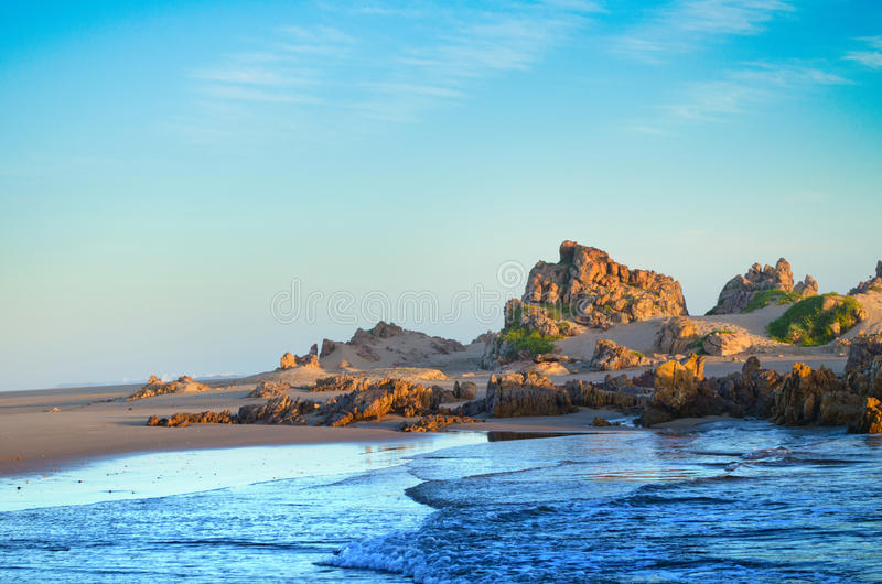 Strand bij Buffels-Baai royalty-vrije stock afbeelding