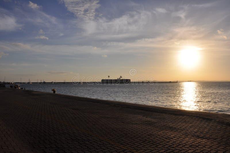Strand bij Zonsondergang stock foto