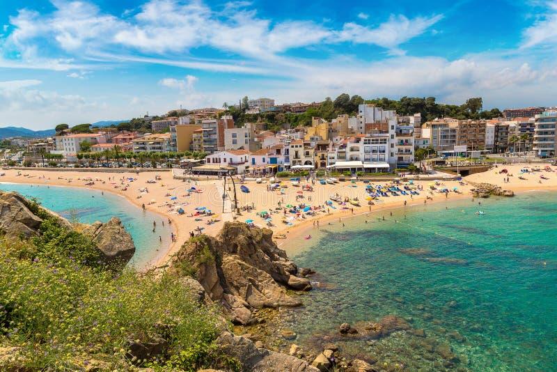 Strand in Blanes in Costa Brava royalty-vrije stock foto's