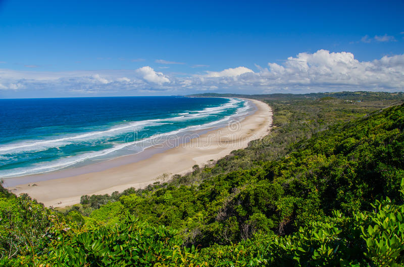 Strand in Byron Bay royalty-vrije stock foto