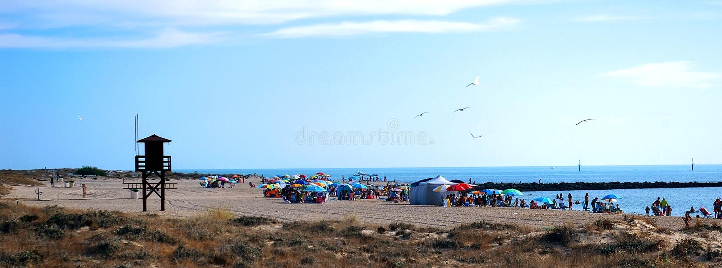 Strand in Cadiz lizenzfreie stockfotos
