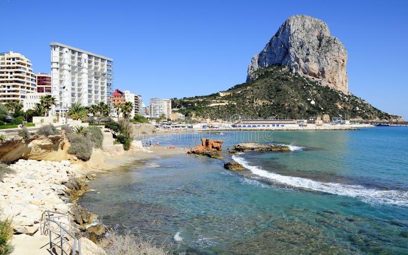 Strand Calpe, Alicante. royalty-vrije stock foto's
