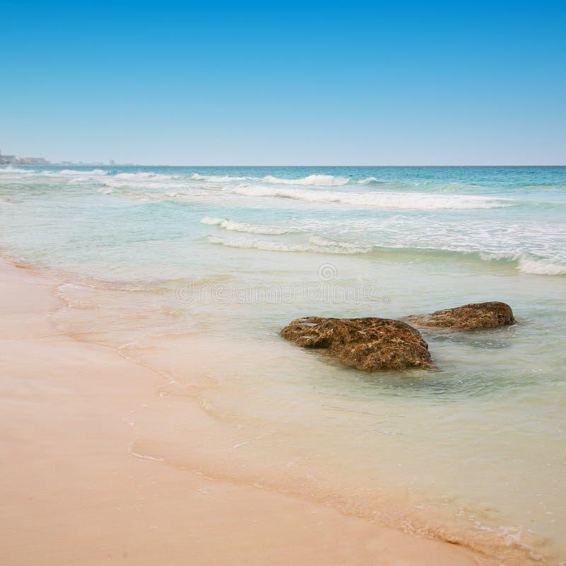 Strand in Cancun, Mexico royalty-vrije stock afbeeldingen