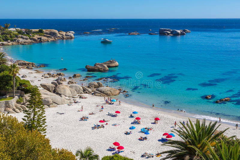 Strand in Cape Town, Zuid-Afrika stock foto
