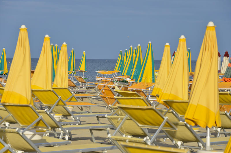 Strand in Cervia 10 royalty-vrije stock afbeeldingen