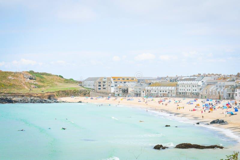 Strand in Cornwall, Engeland royalty-vrije stock afbeelding