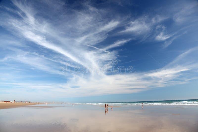 Strand in Costa de la Luz, Spanje stock afbeelding