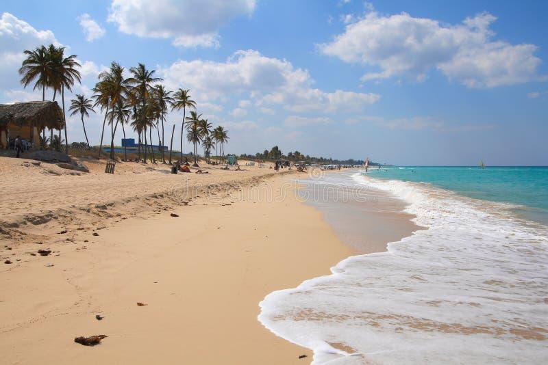 Strand in Cuba stock afbeelding
