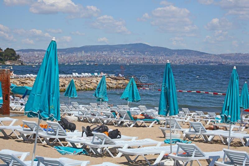 Strand dat in de eilanden van de Prinses wordt genomen royalty-vrije stock foto