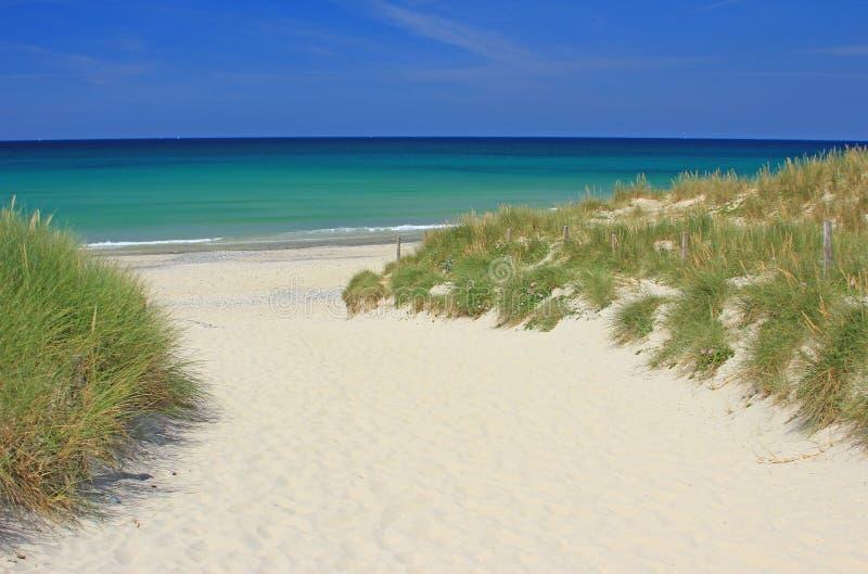 Strand in de Atlantische Oceaan royalty-vrije stock foto's