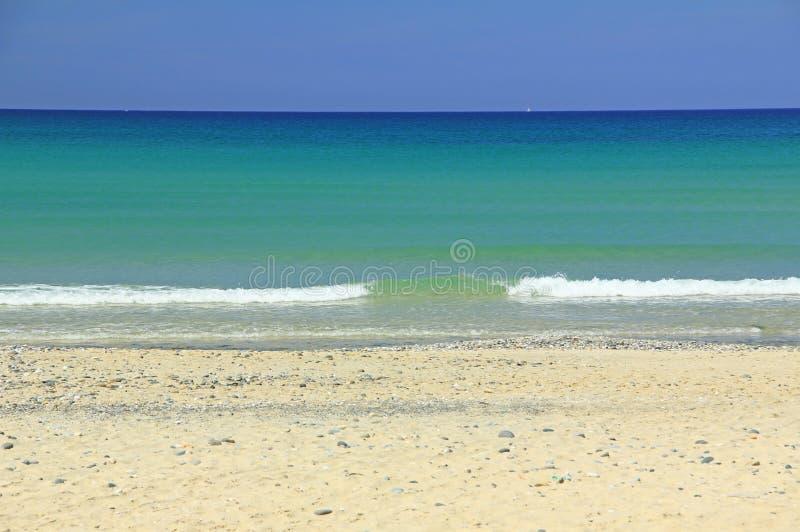 Strand in de Atlantische Oceaan royalty-vrije stock afbeelding
