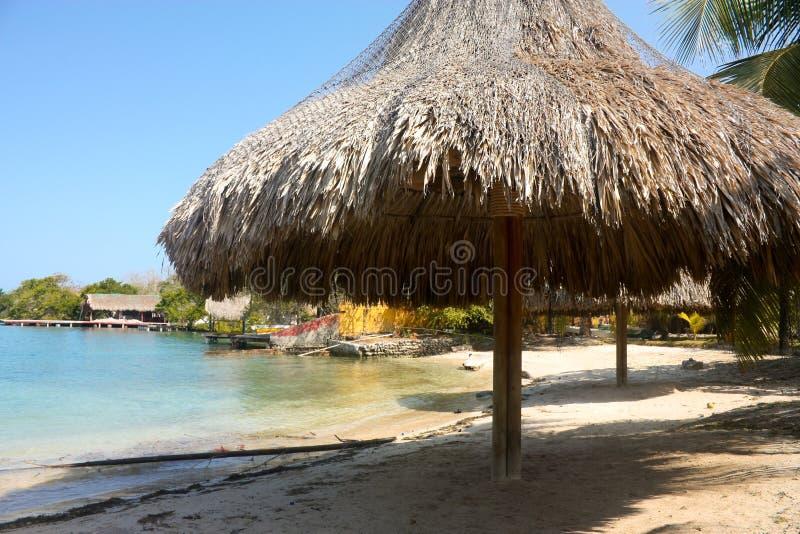 Strand. De eilanden van Rosario. Colombia stock foto's