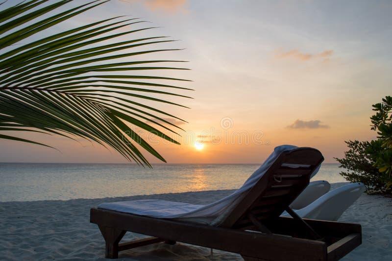 Strand - de Maldiven stock afbeeldingen