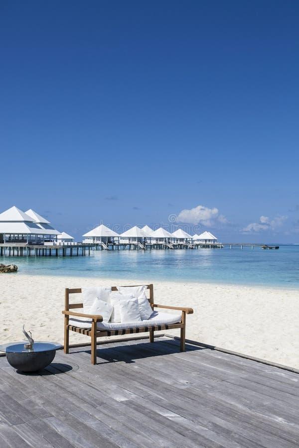 Strand in den Maldives stockfotografie