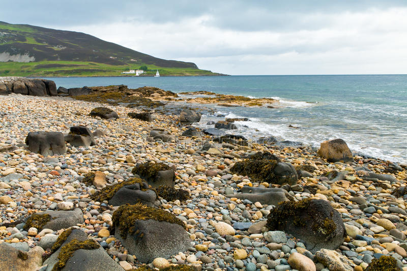 Strand der Könige Cross auf der Insel von Arran stockfotos