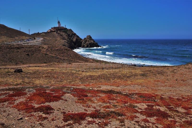 Strand des Corralete-cabo Des Gata Nijar Almeria Andalusia Spain lizenzfreies stockfoto